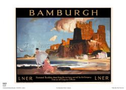 Bamburgh - Castle - Railway & Travel Poster